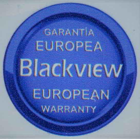 Nuestros móviles Blackview son los únicos que cuentan con Garantía española como marca el adhesivo que encontraréis en la caja, igual al que os adjuntamos arriba encima del artículo.